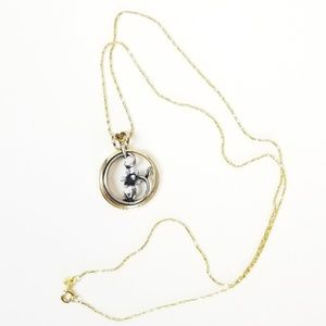 """Mixed Metal Daisy 20"""" Necklace"""